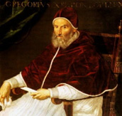 Pope Gregory XIII, who instituted the Gregorian calendar