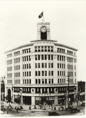 Second clock tower of K. Hattori & Co., Ltd. (currently Wako) after the opening of its shop 1932