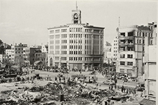 Hattori clock tower just after the war