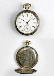 Pocket watch imported by Favre-Brandt Commercial Company (owned by the Seiko Museum)