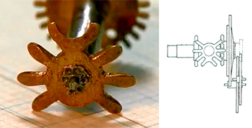 Insect-shaped wheel, in real life and on paper